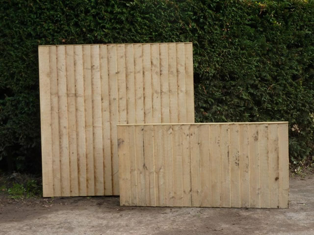 Photo of close boarded fence panel.
