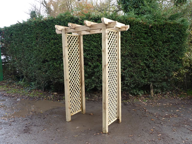 Photo of a mini pergola.
