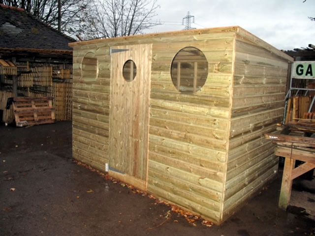 Photo of a custom made garden shed.
