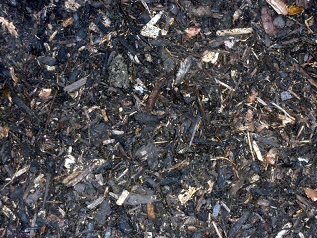 Photo of a unit of woodland mulch.